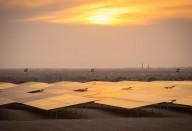 Vue des panneaux de la Centrale Cheikh Zayed 15 MW de Nouakchott